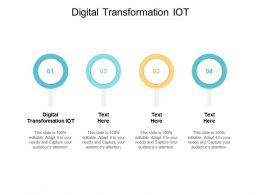 Digital Transformation IOT Ppt Powerpoint Presentation Ideas Slideshow Cpb