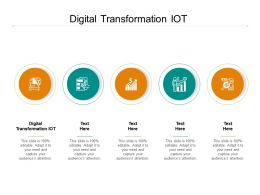 Digital Transformation IOT Ppt Powerpoint Presentation Show Good Cpb