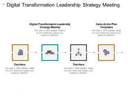 Digital Transformation Leadership Strategy Meeting Sales Action Plan Templates Cpb