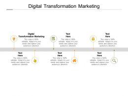 Digital Transformation Marketing Ppt Powerpoint Presentation Portfolio Samples Cpb