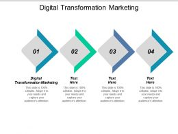 Digital Transformation Marketing Ppt Powerpoint Presentation Summary Brochure Cpb