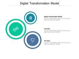 Digital Transformation Model Ppt Powerpoint Presentation Slides Graphics Example Cpb