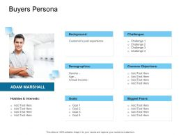 Digital Transformation Of Client Onboarding Process Buyers Persona Goals Ppt Slides