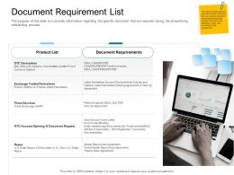 Digital Transformation Of Client Onboarding Process Document Requirement List Derivatives