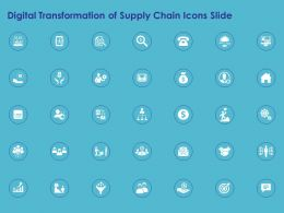 Digital Transformation Of Supply Chain Icons Slide Ppt Powerpoint Presentation Pictures