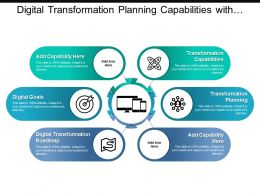 Digital Transformation Planning Capabilities With Circles And Icons