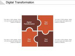 Digital Transformation Ppt Powerpoint Presentation Icon Designs Cpb