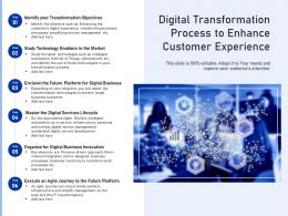 Digital Transformation Process To Enhance Customer Experience
