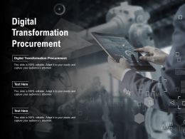 Digital Transformation Procurement Ppt Powerpoint Presentation Outline Samples Cpb