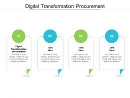 Digital Transformation Procurement Ppt Powerpoint Presentation Portfolio Styles Cpb