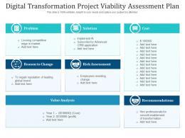 Digital Transformation Project Viability Assessment Plan
