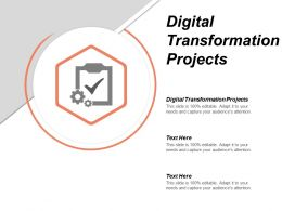 Digital Transformation Projects Ppt Powerpoint Presentation Gallery Background Images Cpb