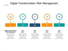 Digital Transformation Risk Management Ppt Powerpoint Presentation Outline Cpb
