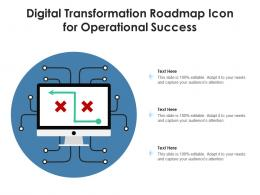 Digital Transformation Roadmap Icon For Operational Success