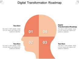 Digital Transformation Roadmap Ppt Powerpoint Presentation Gallery Graphics Template Cpb