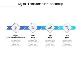 Digital Transformation Roadmap Ppt Powerpoint Presentation Infographics Professional Cpb