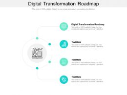 Digital Transformation Roadmap Ppt Powerpoint Presentation Pictures Graphics Example Cpb