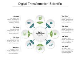 Digital Transformation Scientific Ppt Powerpoint Presentation Portfolio Structure Cpb