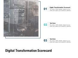 Digital Transformation Scorecard Ppt Powerpoint Presentation Pictures Format Cpb