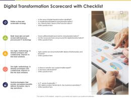 Digital Transformation Scorecard With Checklist Strategy Ppt Powerpoint Presentation File Show