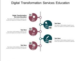 Digital Transformation Services Education Ppt Powerpoint Presentation File Summary Cpb
