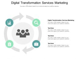 Digital Transformation Services Marketing Ppt Powerpoint Presentation Cpb