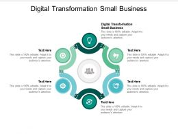Digital Transformation Small Business Ppt Powerpoint Presentation Summary Aids Cpb