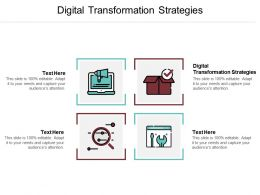 Digital Transformation Strategies Ppt Powerpoint Presentation File Objects Cpb