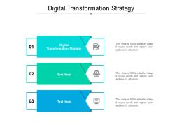 Digital Transformation Strategy Ppt Powerpoint Presentation Gallery Backgrounds Cpb