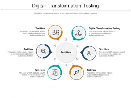 Digital Transformation Testing Ppt Powerpoint Presentation Outline Portfolio Cpb