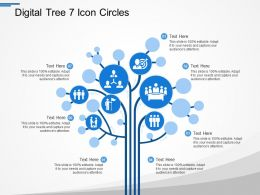Digital Tree 7 Icon Circles
