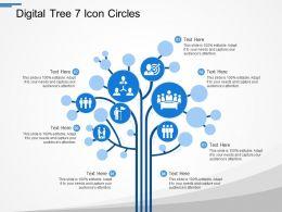 Digital Tree 7 Icon Circles