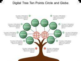 Digital Tree Ten Points Circle And Globe