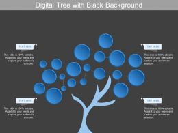 Digital Tree With Black Background