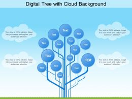 Digital Tree With Cloud Background