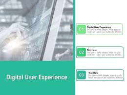 Digital User Experience Ppt Powerpoint Presentation Styles Show Cpb