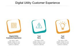 Digital Utility Customer Experience Ppt Powerpoint Presentation Ideas Pictures Cpb