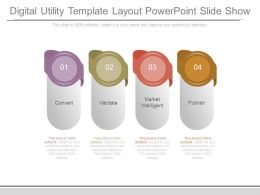 Digital Utility Template Layout Powerpoint Slide Show