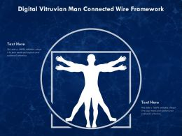Digital Vitruvian Man Connected Wire Framework