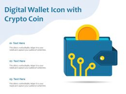 Digital Wallet Icon With Crypto Coin