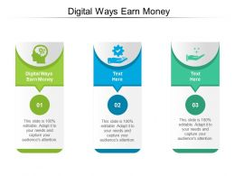 Digital Ways Earn Money Ppt Powerpoint Presentation File Display Cpb