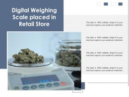 Digital Weighing Scale Placed In Retail Store