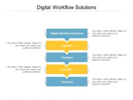 Digital Workflow Solutions Ppt Powerpoint Presentation Layouts Display Cpb