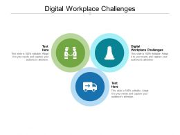 Digital Workplace Challenges Ppt Powerpoint Presentation Icon Model Cpb