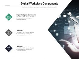 Digital Workplace Components Ppt Powerpoint Presentation Gallery Graphic Tips Cpb
