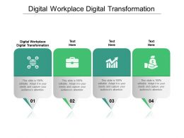 Digital Workplace Digital Transformation Ppt Powerpoint Presentation Show Inspiration Cpb