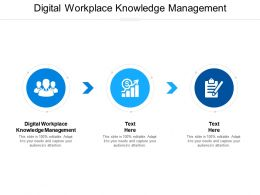 Digital Workplace Knowledge Management Ppt Powerpoint Presentation Pictures Themes Cpb