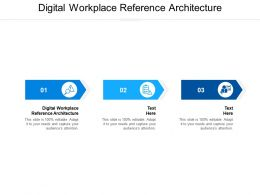 Digital Workplace Reference Architecture Ppt Powerpoint Presentation Outline Structure Cpb