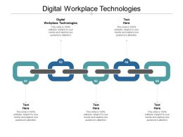 Digital Workplace Technologies Ppt Powerpoint Presentation Templates Cpb