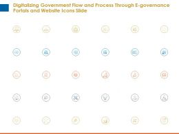 Digitalizing Government Flow Portals And Website Icons Slide Ppt Presentation Layout